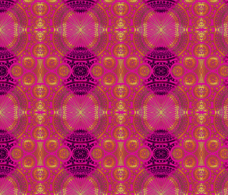 TangleFan Pink fabric by joonmoon on Spoonflower - custom fabric