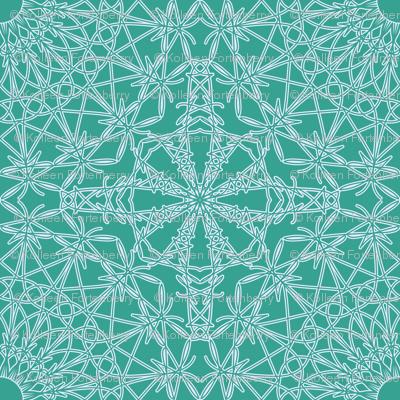 Crocheted Lace - Bright Aqua