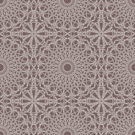 Crocheted Lace - Steel Grey fabric by strive on Spoonflower - custom fabric