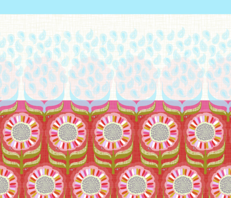 UPSY DASY REVERSIBLE GIRL'S SKIRT fabric by trcreative on Spoonflower - custom fabric