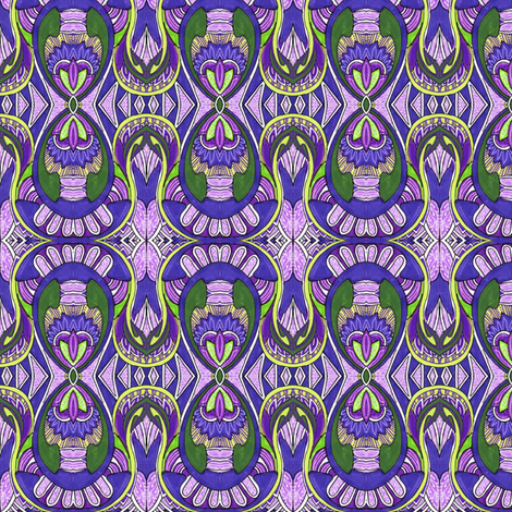 Native Soul (lavender) fabric by edsel2084 on Spoonflower - custom fabric