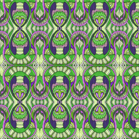 Native Soul (green salad) fabric by edsel2084 on Spoonflower - custom fabric