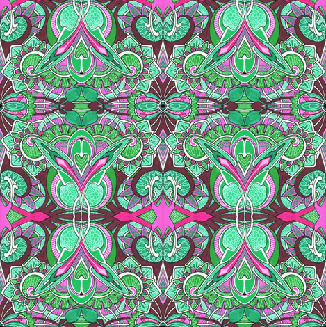 Because Little Girls Believe in Fairies (kelly) fabric by edsel2084 on Spoonflower - custom fabric