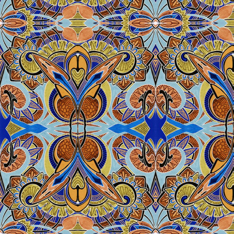 Because Little Girls Believe in Fairies (rust) fabric by edsel2084 on Spoonflower - custom fabric