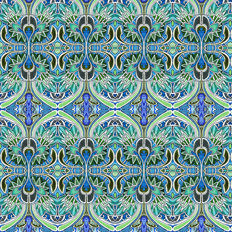 Nouveau Deco a Go Go fabric by edsel2084 on Spoonflower - custom fabric