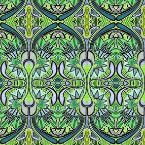 Nouveau Deco a Go Go (in negative green)