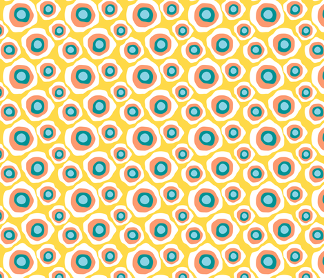 Fried Circles Over Easy fabric by ravenous on Spoonflower - custom fabric