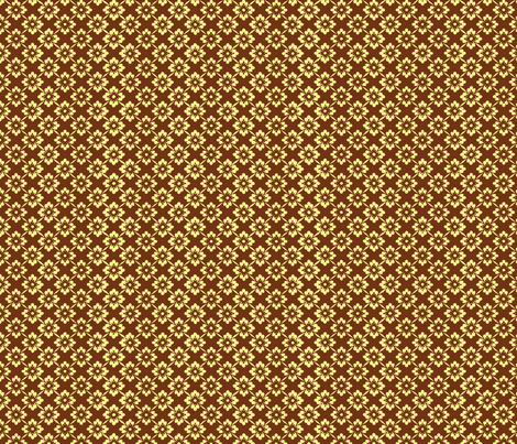 floral_repeat_1-coffee&cream fabric by lou248 on Spoonflower - custom fabric