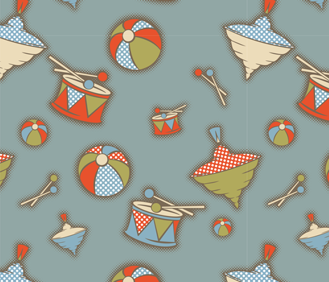 Childhood fabric by cassiopee on Spoonflower - custom fabric