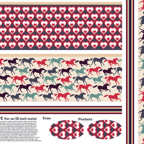 wild horses reversible skirt pattern