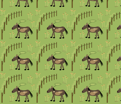 Sophia's Pony fabric by petals_fair_(peggy_brown) on Spoonflower - custom fabric