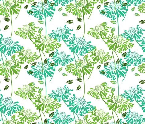 Tropical Daisy fabric by joanmclemore on Spoonflower - custom fabric
