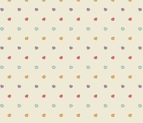 Hearts for Roller Girls fabric by jpdesigns on Spoonflower - custom fabric