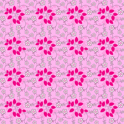 Sakura Cherry fabric by joanmclemore on Spoonflower - custom fabric