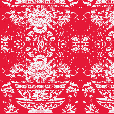 Chinese Tee Bowl Red fabric by miss_blümchen on Spoonflower - custom fabric