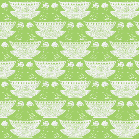 Bowl lightgreen fabric by miss_blümchen on Spoonflower - custom fabric