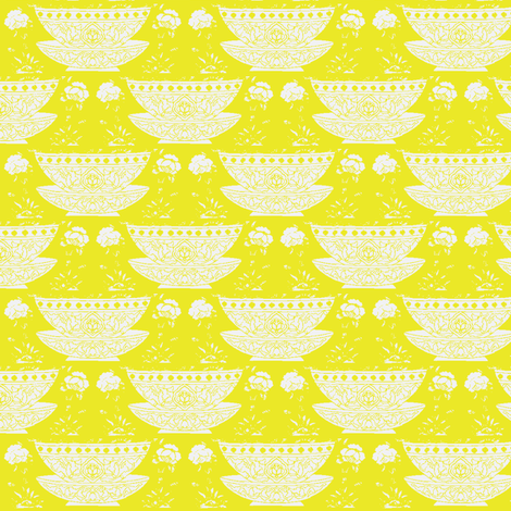 Bowl mustard fabric by miss_blümchen on Spoonflower - custom fabric