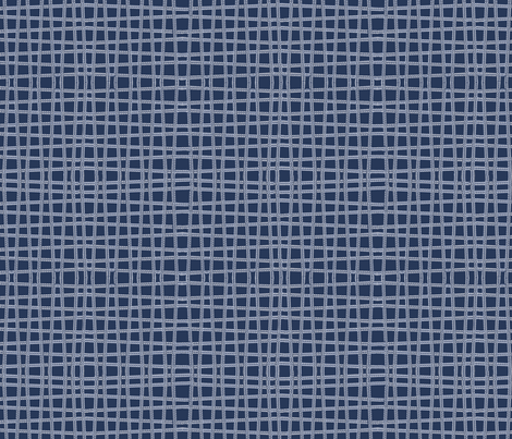 Twine - Blue fabric by kristopherk on Spoonflower - custom fabric