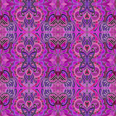 Butterfly Dance (hot purple) fabric by edsel2084 on Spoonflower - custom fabric