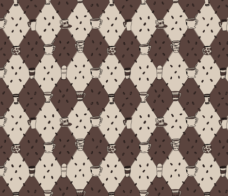 Totally Caffeinated fabric by whitneyotic on Spoonflower - custom fabric