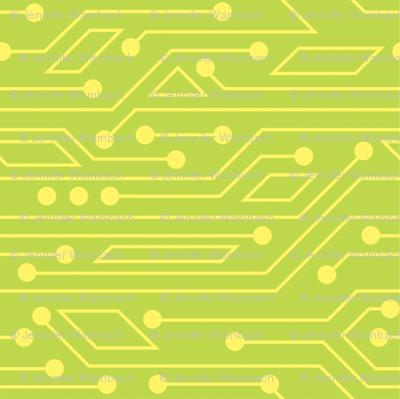 Robot Skirt coordinate - circuitboard (green)