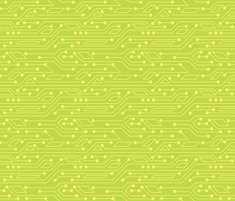 Robot Skirt coordinate - circuitboard (green) fabric by jennartdesigns on Spoonflower - custom fabric
