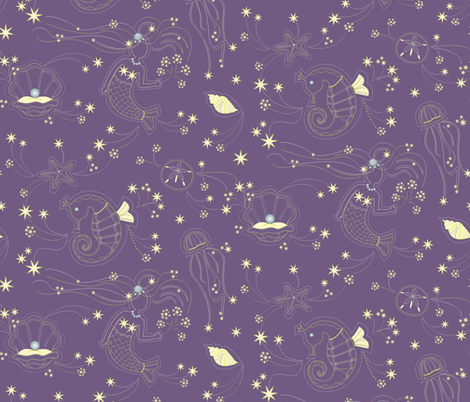 SeaFireworks fabric by designmagi on Spoonflower - custom fabric