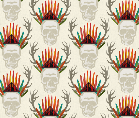 skull light fabric by scrummy on Spoonflower - custom fabric