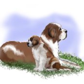 Rrrrrrsaint_bernard_mother_and_puppy_large_shop_thumb
