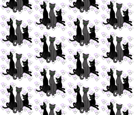 trio cats fabric by topfrog56 on Spoonflower - custom fabric