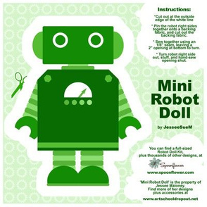 Mini Robot Doll - Green
