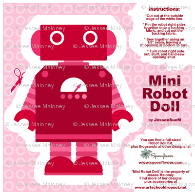 Mini Robot Doll - Pink