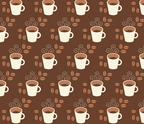 Coffee fabric by hlacerte on Spoonflower - custom fabric