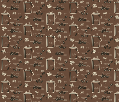 Morning Coffee fabric by petals_fair on Spoonflower - custom fabric
