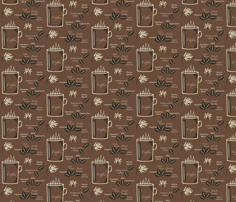 Morning Coffee fabric by petalsfair on Spoonflower - custom fabric