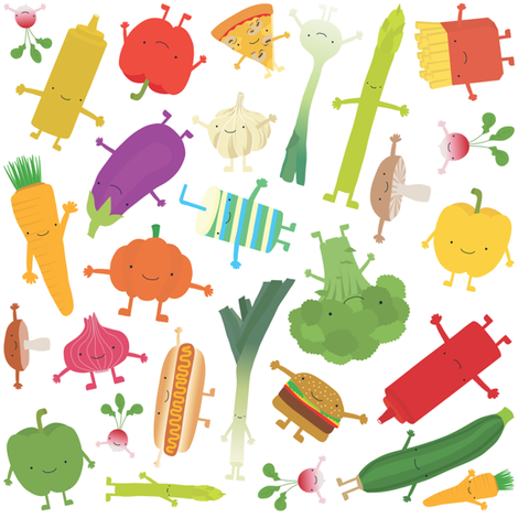 Foodfight fabric by ankepanke on Spoonflower - custom fabric