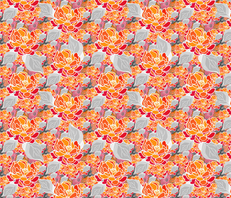 Blossoms Modern fabric by joanmclemore on Spoonflower - custom fabric