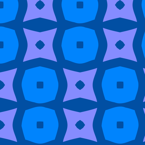 Donuts A (Blue) fabric by nekineko on Spoonflower - custom fabric