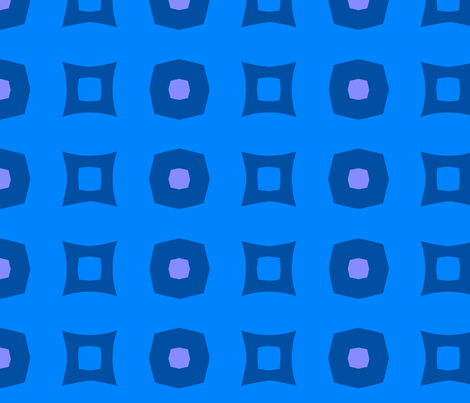 Boxes A (Blue) fabric by nekineko on Spoonflower - custom fabric