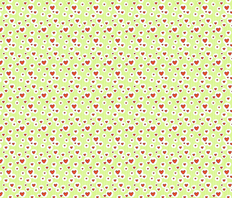 Bitty Hearts fabric by tradewind_creative on Spoonflower - custom fabric