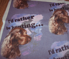 Field Spaniel Hunting Dog Fabric