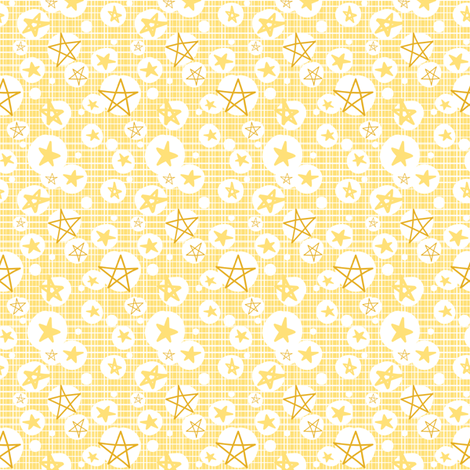 Honey Stars fabric by tradewind_creative on Spoonflower - custom fabric