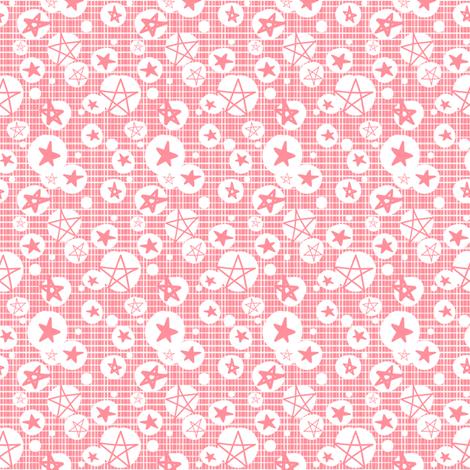 Sakura Stars fabric by tradewind_creative on Spoonflower - custom fabric