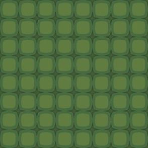 Fir Grenn Retro Squares & Stars