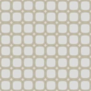 Eggshell Retro Squares Stars