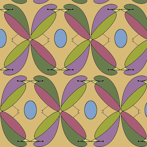 Four Birds One Egg fabric by david_kent_collections on Spoonflower - custom fabric