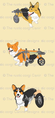 Corgi's on Wheels - tan