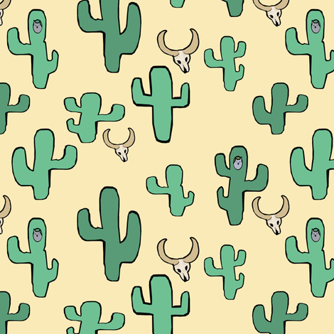 Owls & the Desert fabric by pond_ripple on Spoonflower - custom fabric