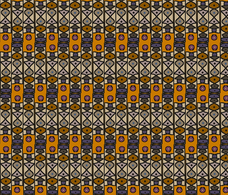 Stele Afrique (Smaller Scale) fabric by david_kent_collections on Spoonflower - custom fabric