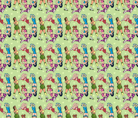 roller_Derby_spoonflower fabric by worldwidedeb on Spoonflower - custom fabric